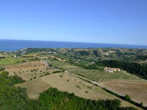 Tempi di Aratura 2009 - panoramica aerea con vista mare